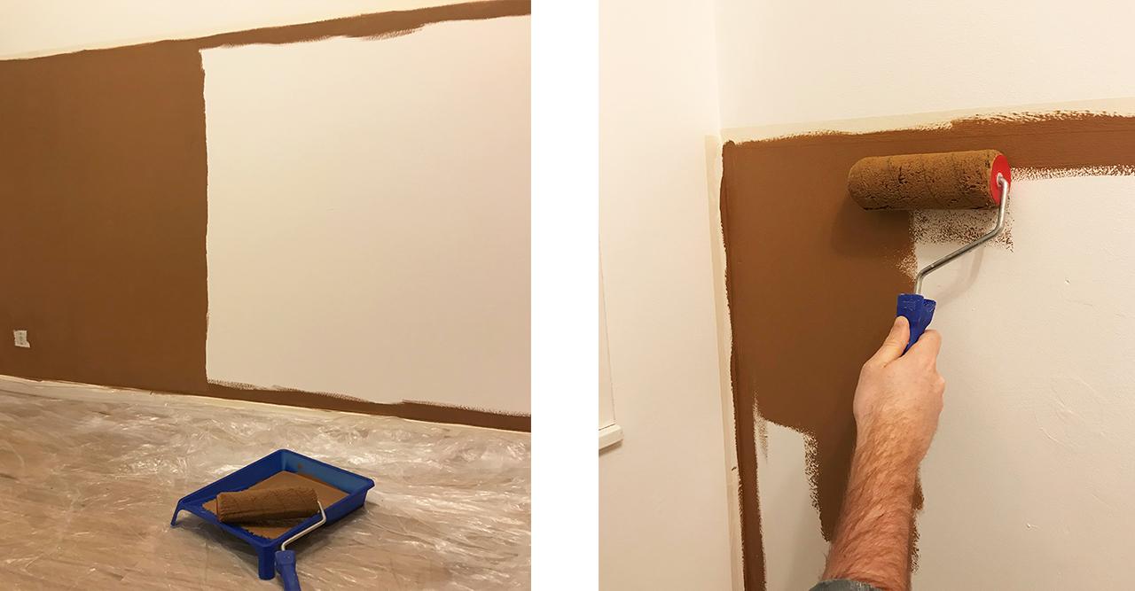 lambrisering op de muur